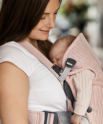 BabyBjörn baby carrier mini 3d mesh -  pearly pink