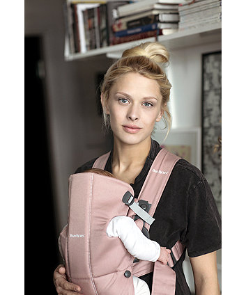 BabyBjörn baby carrier mini cotton -  dusty pink