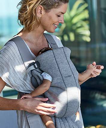 BabyBjörn baby carrier mini 3d jersey - light grey
