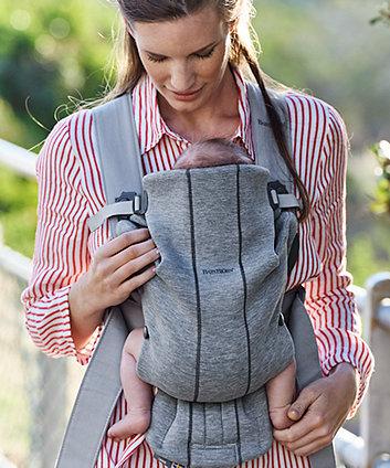 BabyBjörn baby carrier mini 3d jersey - light grey