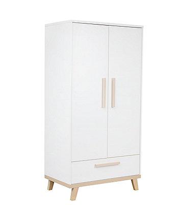 Little Acorns genoa wardrobe - white and birch
