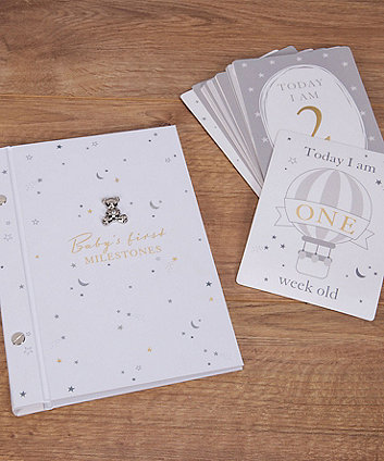 Bambino milestone cards and photo album