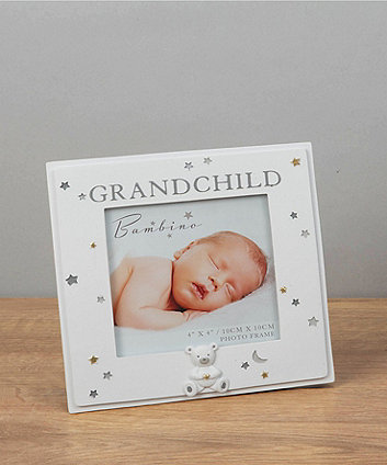 "Bambino resin grandchild 4"" x 4"" photo frame"