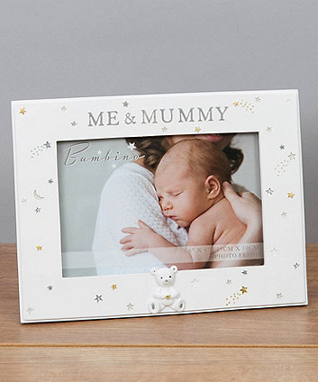 "Bambino resin mummy and me 6"" x 4"" photo frame"