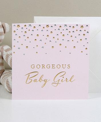 Bambino deluxe card - gorgeous baby girl