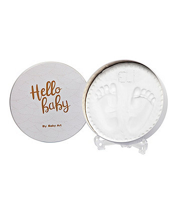 Baby Art magic box round handprint kit