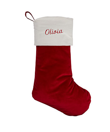 personalised heritage red velvet stocking