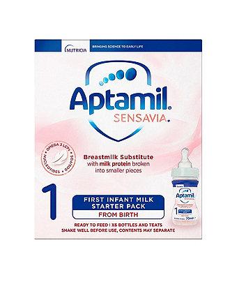 Aptamil sensavia 1 first infant milk starter pack from birth 6 x 70ml