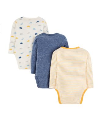 striped dinosaur bodysuits - 3 pack