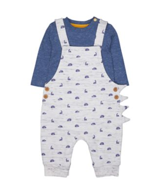 dino dungarees and bodysuit set