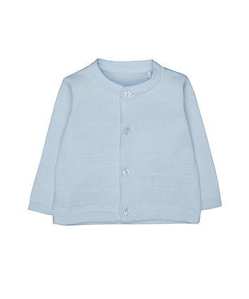 blue train cardigan