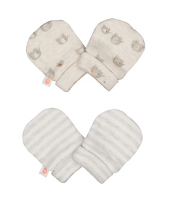 elephant and stripe scratch mitts