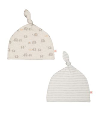 stripe and elephant hats – 2 pack