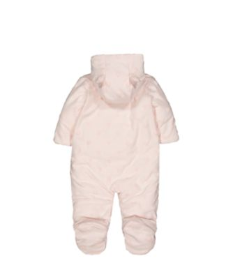 my first little mouse and hearts pink velour pramsuit