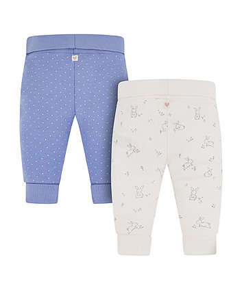 bunny and spot joggers - 2 pack