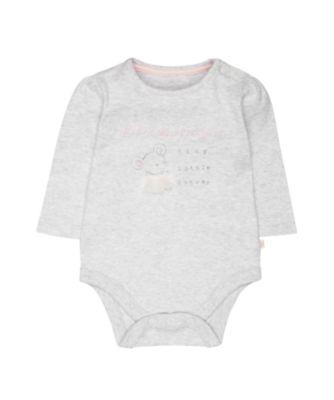 my first mummy's tiny little dancer grey bodysuit