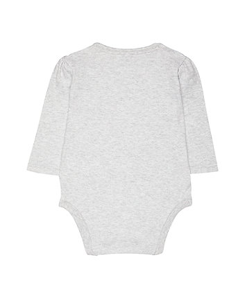 my first mummy's tiny little dancer grey bodysuit