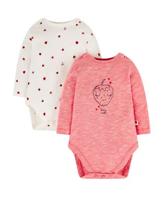 strawberry frill bodysuits - 2 pack