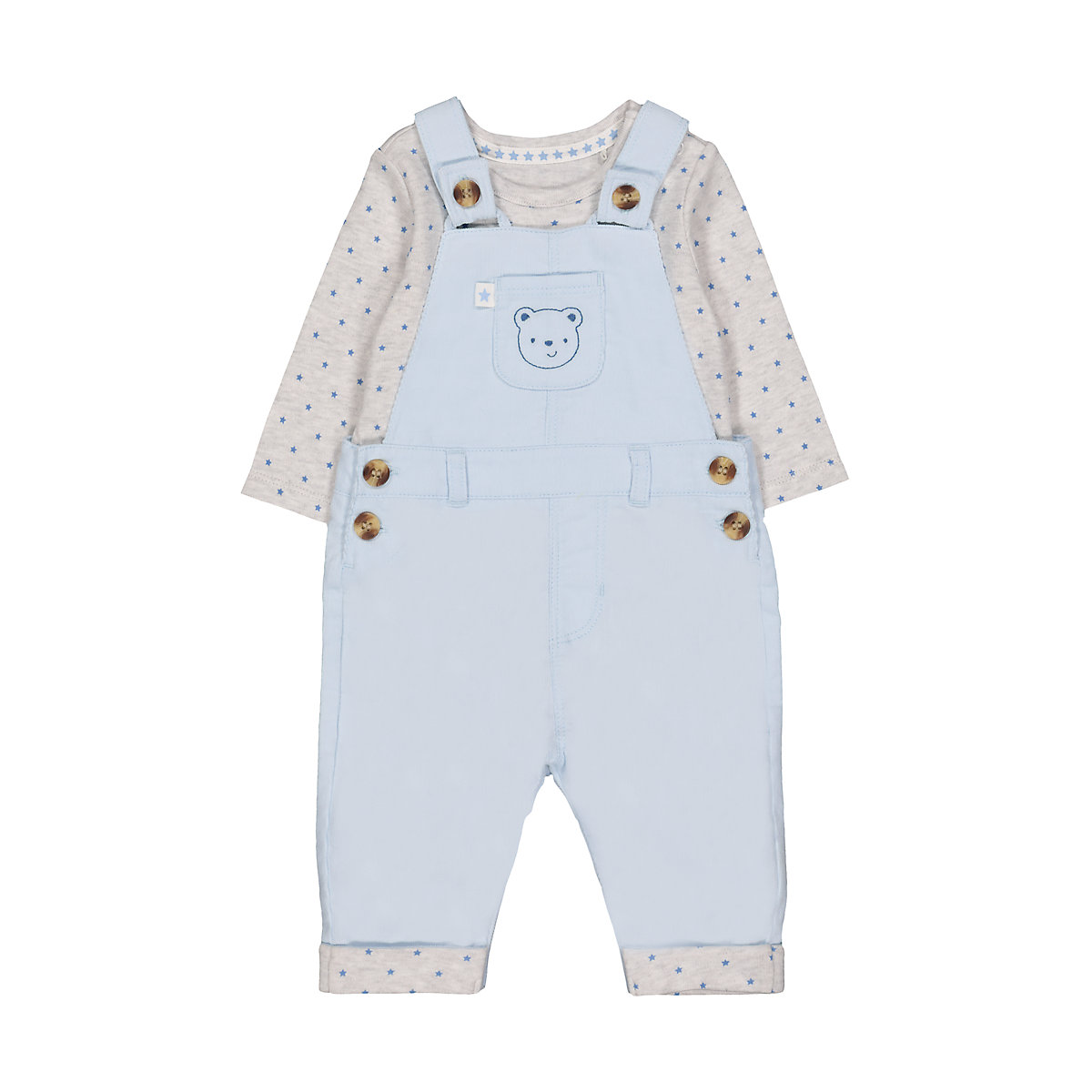 my first cord dungarees and bodysuit set