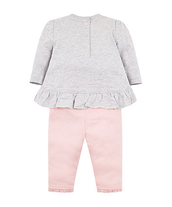 my first grey fairy wishes t-shirt and leggings set
