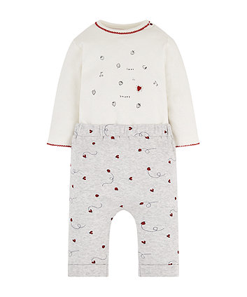 ladybird mock top bodysuit and joggers set