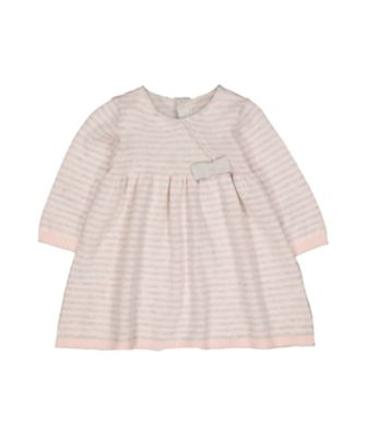 my first pink and grey stripe knitted dress and tights set