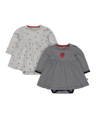 strawberry and ladybird romper dresses - 2 pack