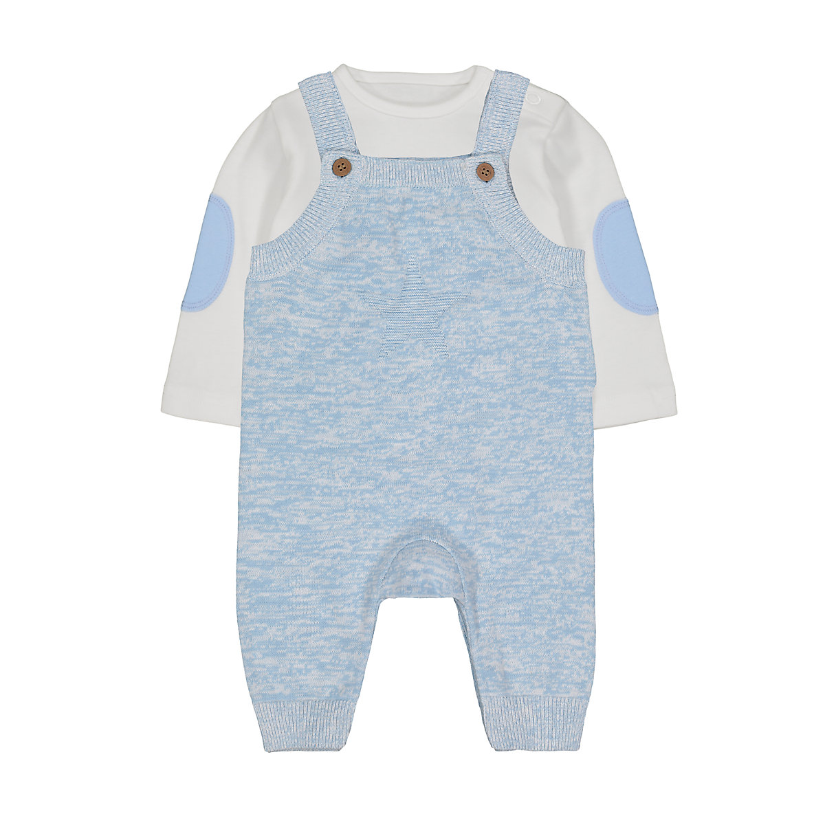 my first knitted dungaree set