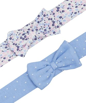 floral and spot baby headbands - 2 pack