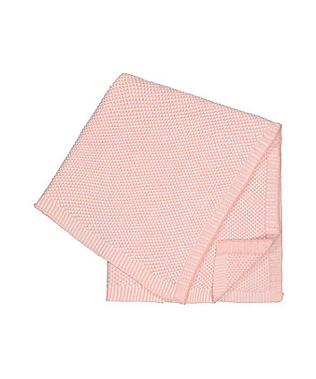 pink knitted shawl