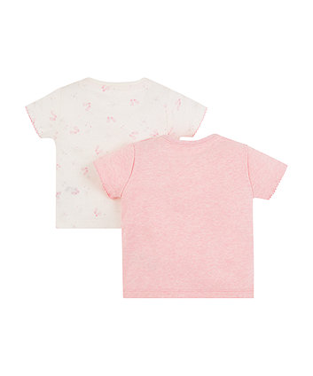 my first pink mouse and ballet shoes t-shirts – 2 pack