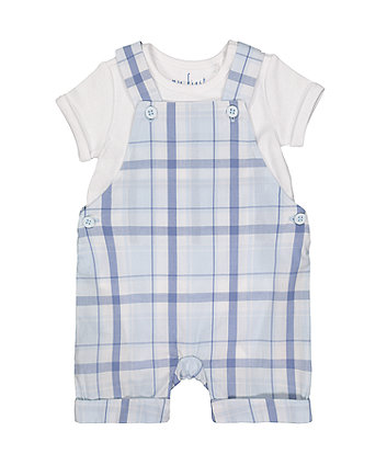 my first check bibshorts and bodysuit set