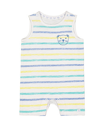 stripe bear romper