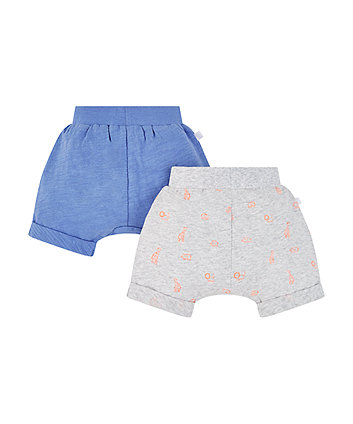 jungle and blue shorts – 2 pack