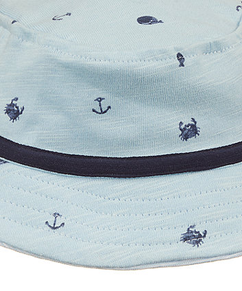 blue whale fisherman hat