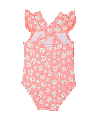 neon pink floral swimsuit