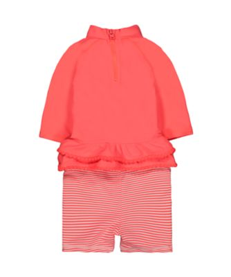 pink rash vest and shorts set