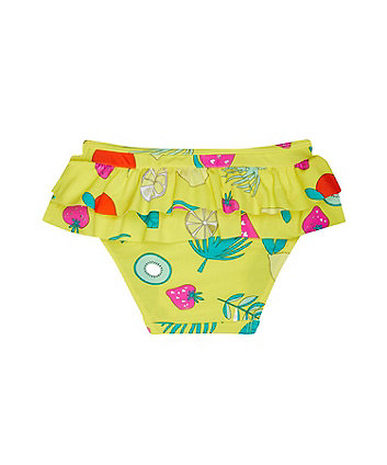 yellow fruit bikini bottoms