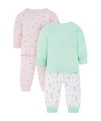 cat and fruit pyjamas - 2 pack