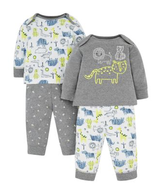 animal pyjamas - 2 pack