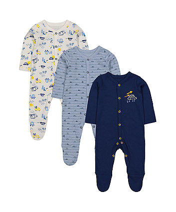 on the road sleepsuits - 3 pack