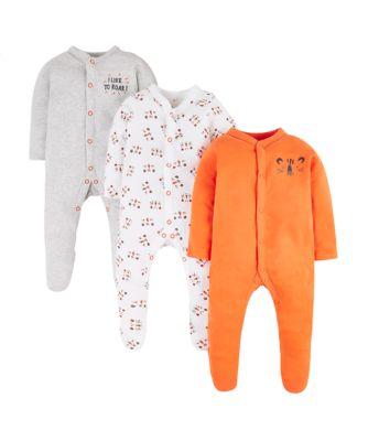 tiger sleepsuits - 3 pack