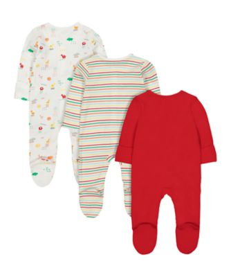brights sleepsuits - 3 pack