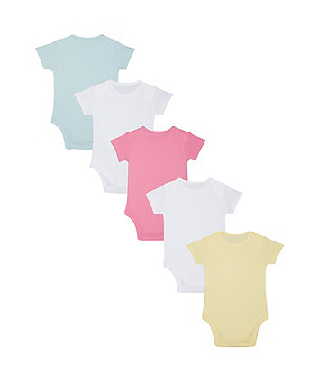 butterfly bodysuits - 5 pack