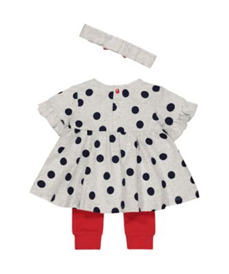 Disney baby minnie mouse top, leggings and headband set