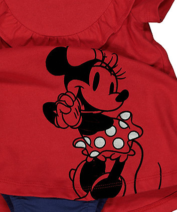 Disney minnie mouse red romper dress