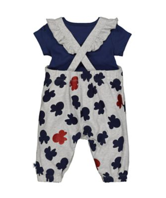 Disney baby minnie mouse dungarees and bodysuit set