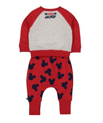 Disney baby mickey mouse sweat top and joggers set