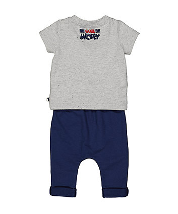 Disney baby mickey mouse t-shirt and joggers set