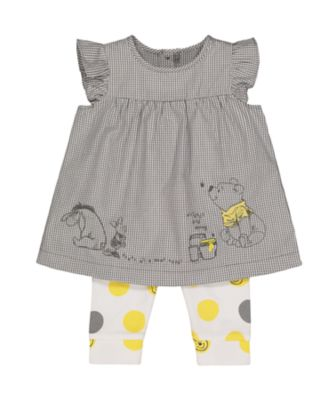 Disney baby winnie the pooh dress and leggings set